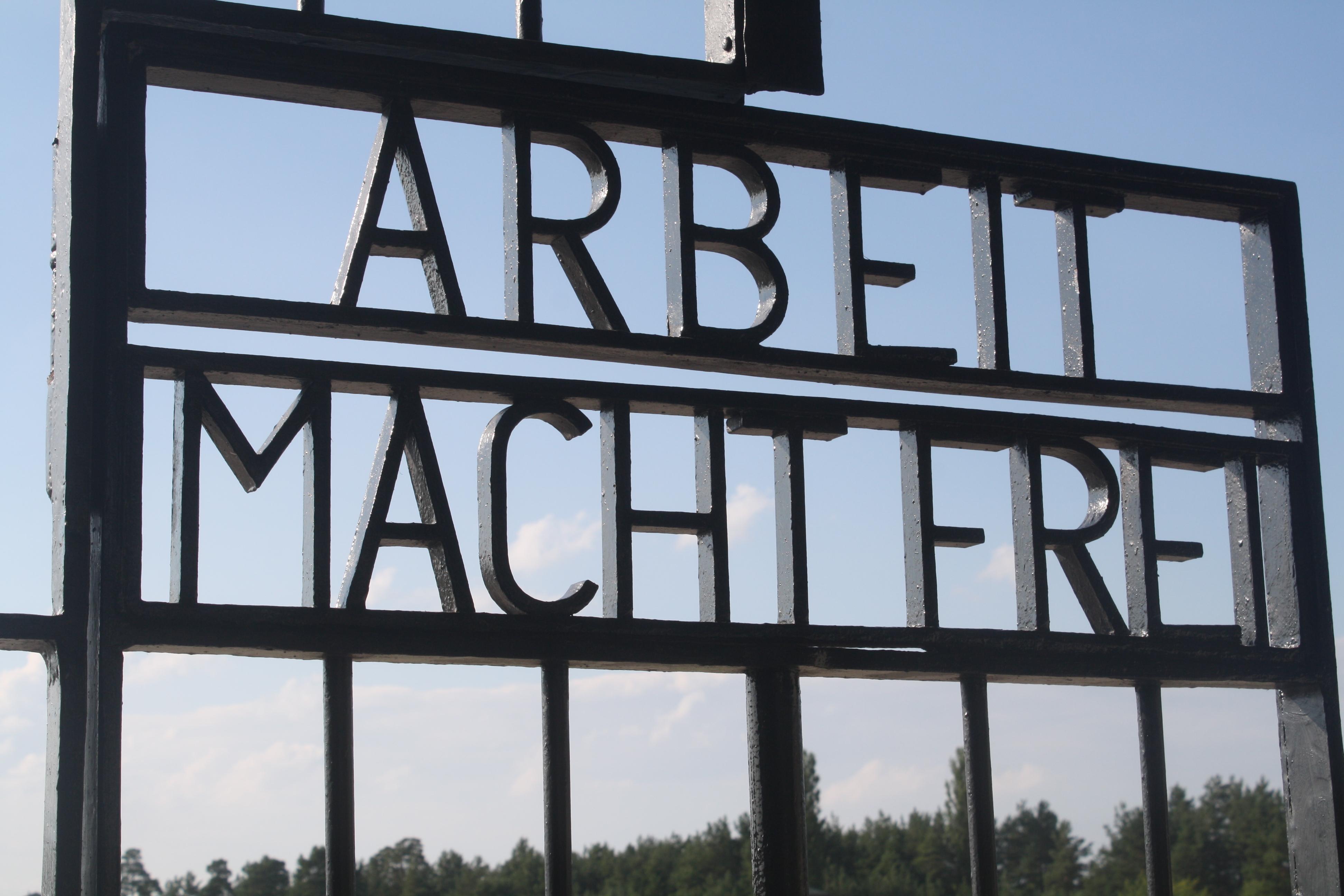 Sachsenhausen Concentration Camp Arbeit macht Frei sign